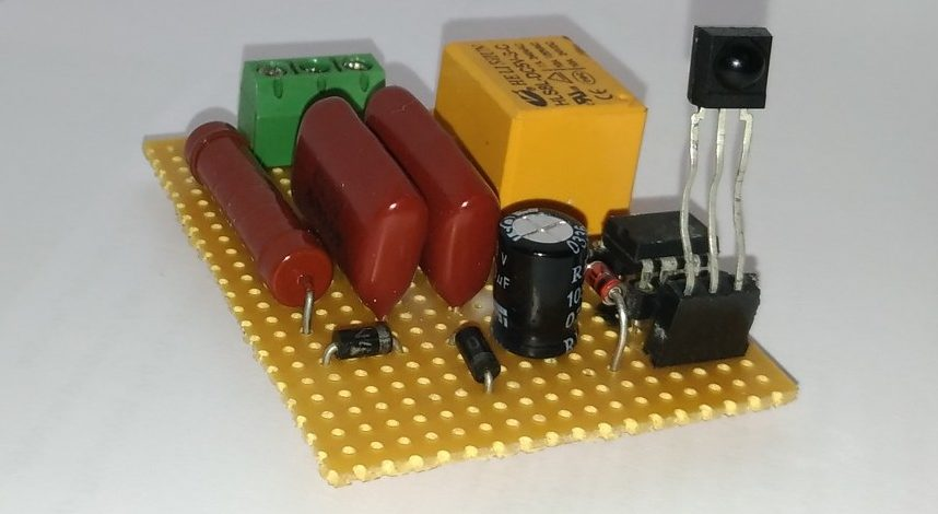 IR remote controlled light switch circuit diagram